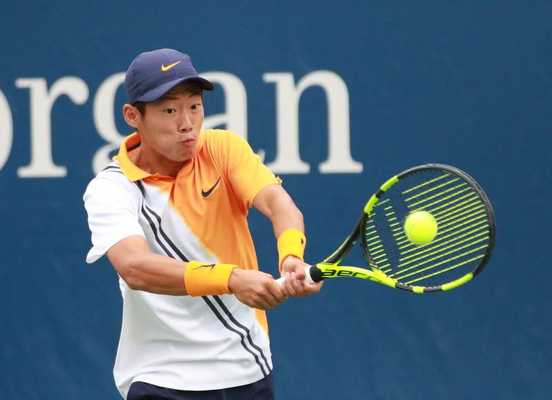 曾俊欣在美網青少年組男單準決賽敗陣。(資料照,四維體育推廣教育基金會提供)