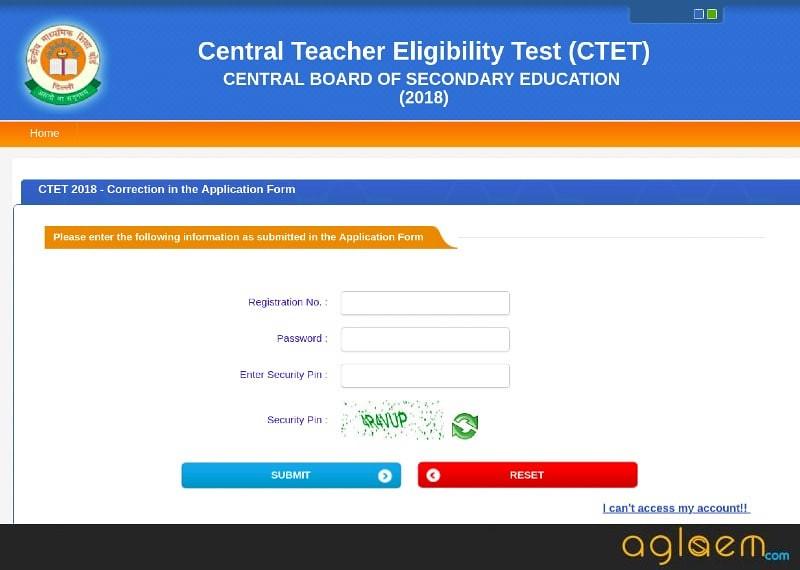 CTET 2018 Application Form Correction Started