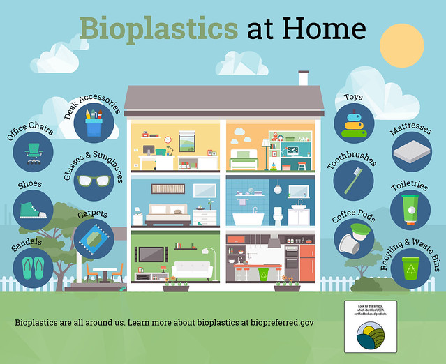 Bioplastics at Home infographic