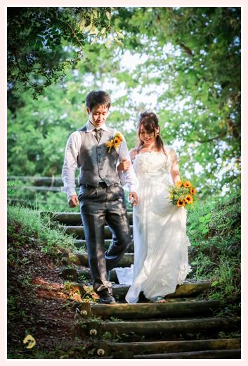 森の中(屋外)で結婚式(挙式)ブライダル/旭高原元気村(愛知県豊田市)