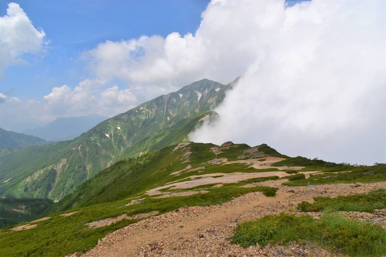 唐松岳~五竜岳の稜線トレイル