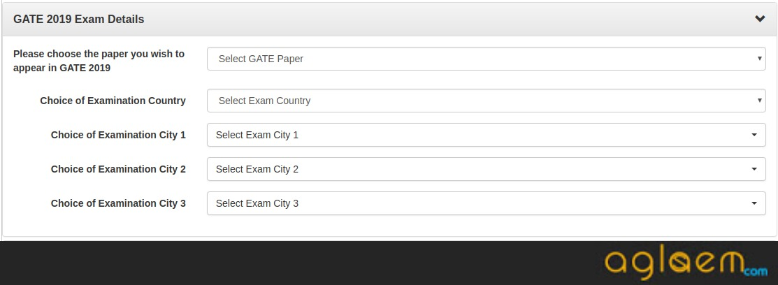 GATE Application Form 2019