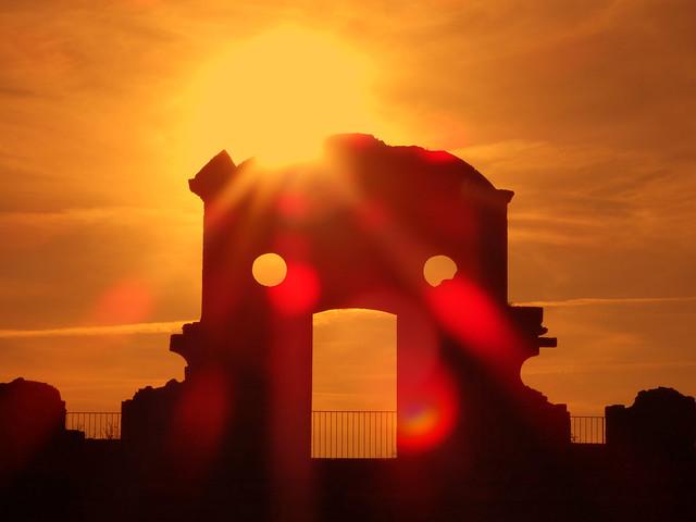 Atardecer en el Fuerte de la Concepción (Aldea del Obispo, Salamanca)