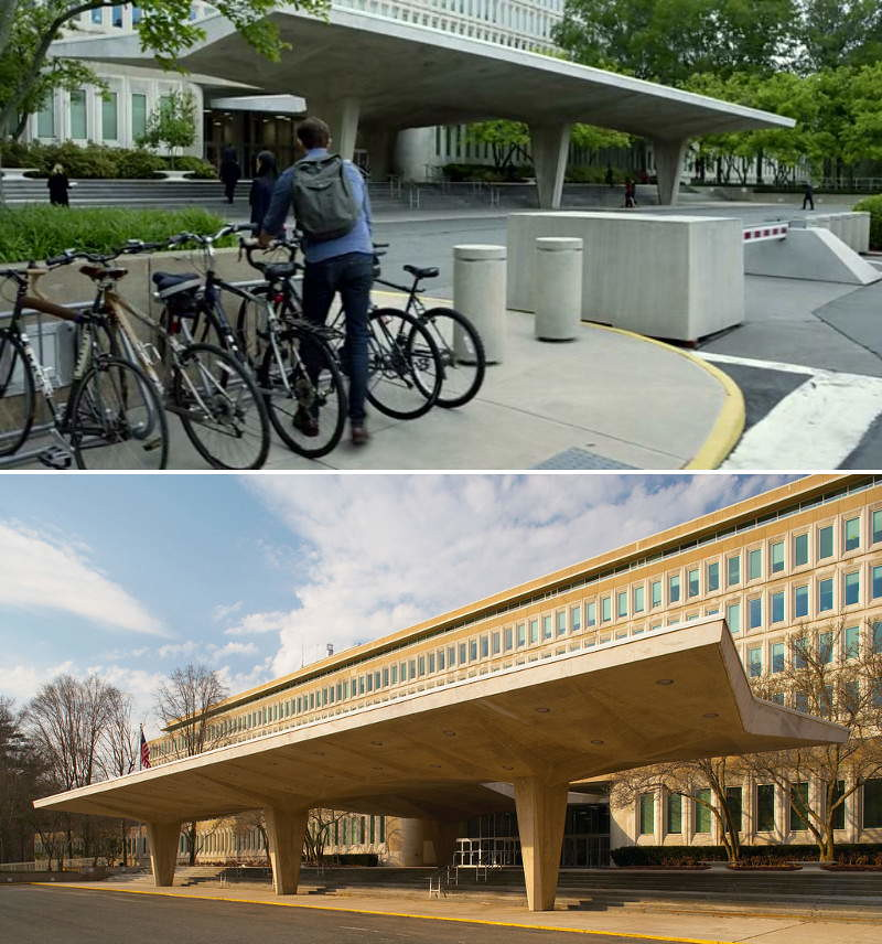 Filming CIA Original Headquarters