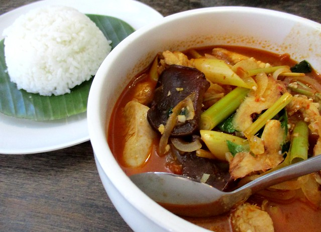 Payung Cafe tom yam chicken with rice