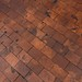 End cut pine block parquet floor at the Country Music Hall of Fame in Nashville