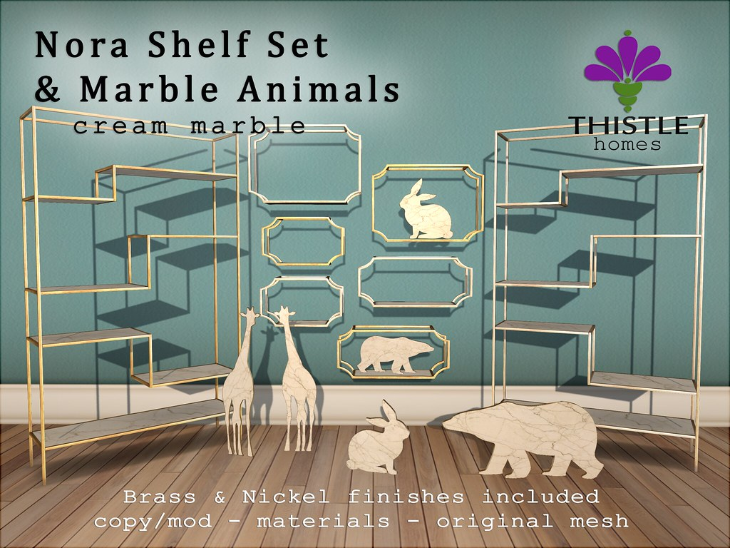 Thistle Nora Shelf and Animals Fatpack - Cream marble | Flickr