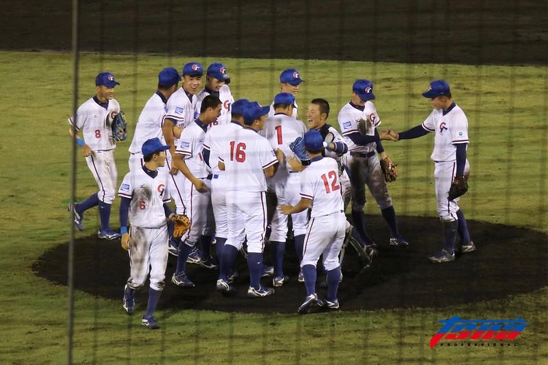 U18中華青棒隊確定晉級冠軍戰。(記者李心筠/宮崎現場拍攝)