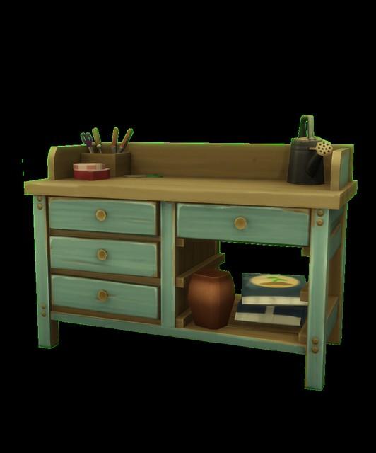 Mesa de arreglos florales en Los Sims 4 Y Las Cuatro Estaciones
