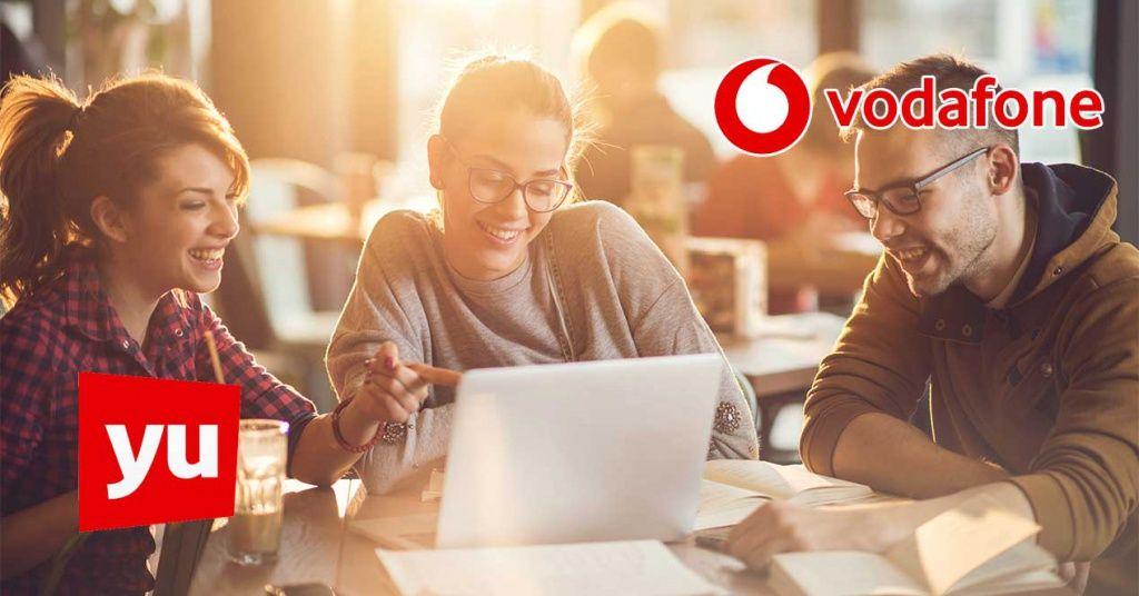 Vodafone lanza la tarifa Fibra Yuser: 120 Mbps simétricos para estudiantes por 34 euros