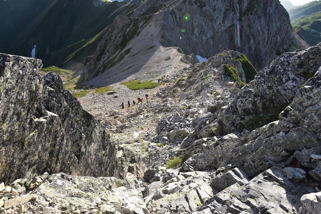 五竜岳の岩場