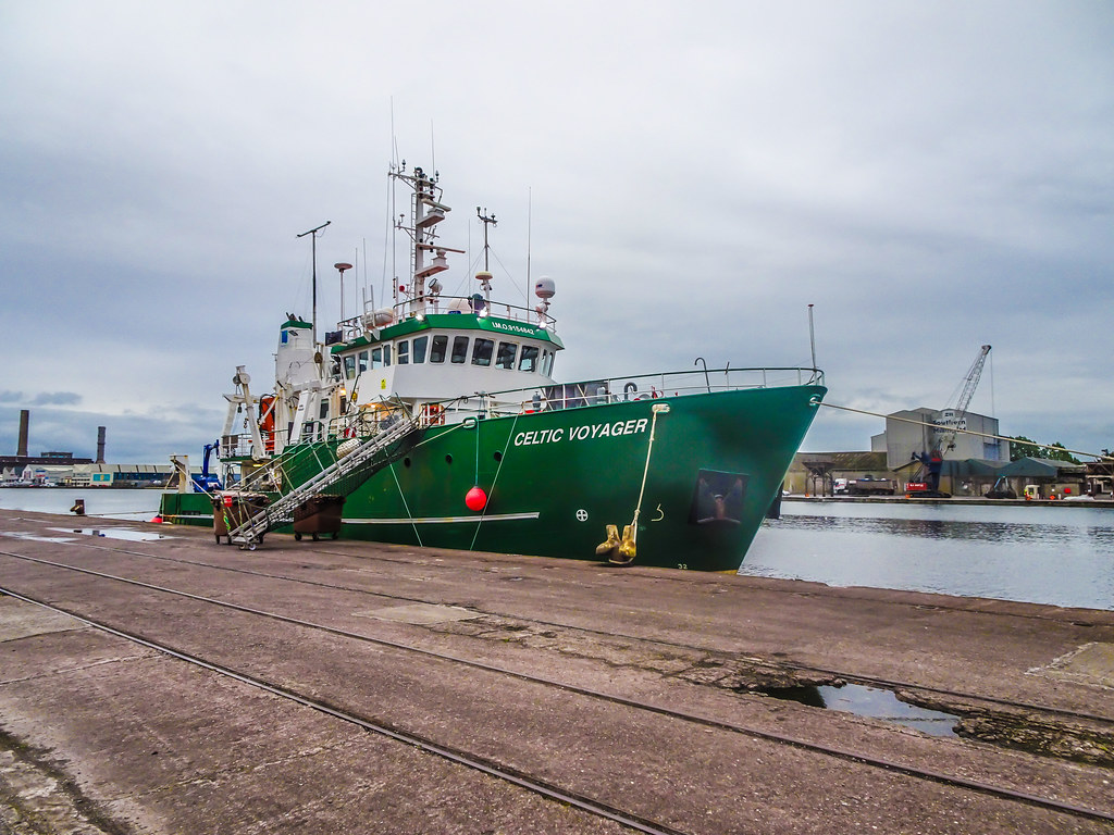 THE CELTIC VOYAGER - HORGAN'S QUAY IN CORK CITY [A RESEARCH AND SURVEY VESSEL] 004