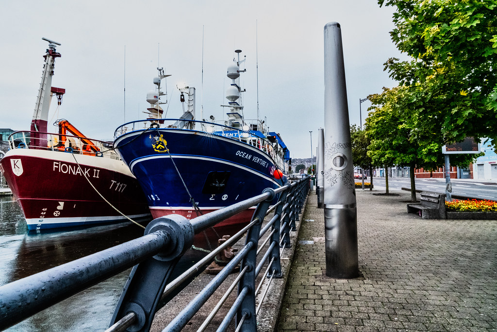 TWO TRAWLERS DOCKED AT PENROSE QUAY IN CORK 010