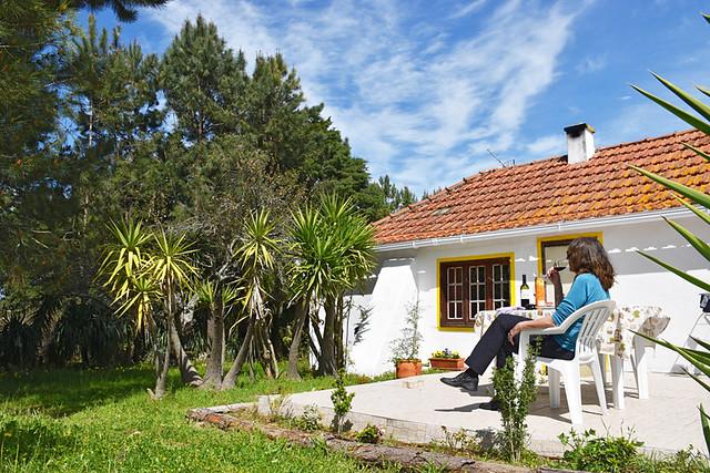 Back terrace lunch spot, Palmela, Portugal