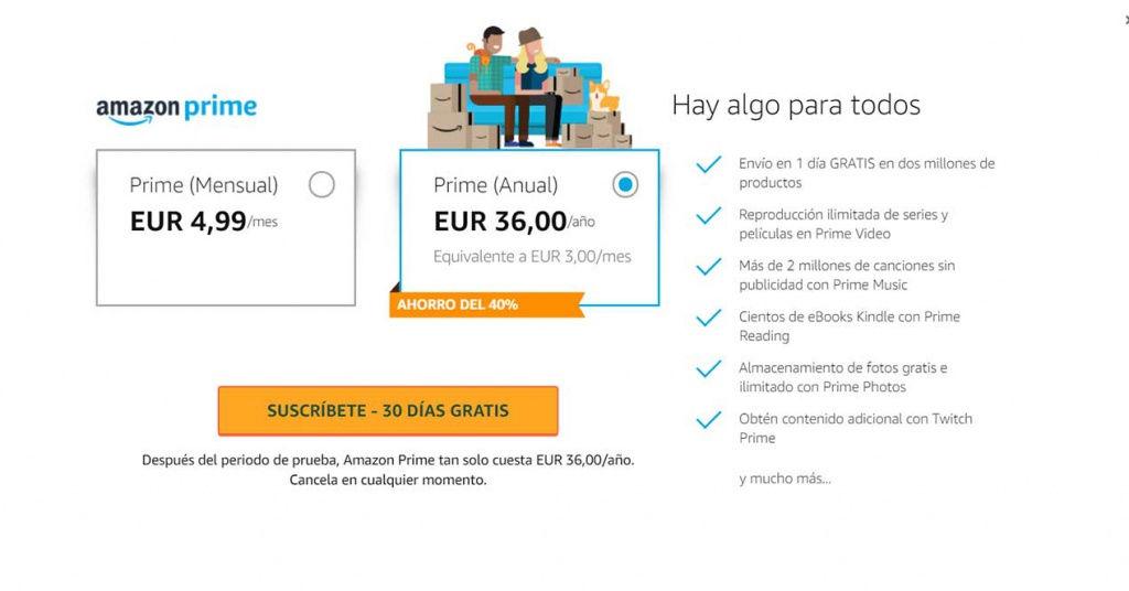 Amazon Prime Espana Subida Precio 36 Euros Anuales
