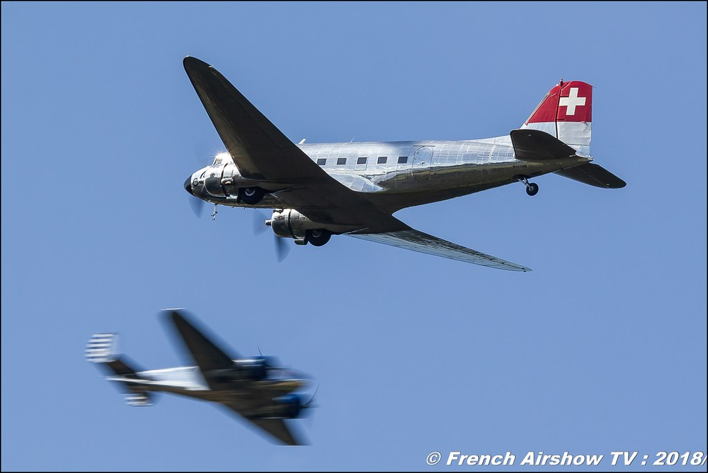 Classic Formation Swissair DC-3 Beech 18 Dittinger Flugtage 2018 Canon Sigma France contemporary lens Meeting Aerien 2018
