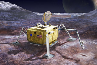 a conceptual design for a potential future mission to land a robotic probe on the surface of Jupiter's moon Europa.