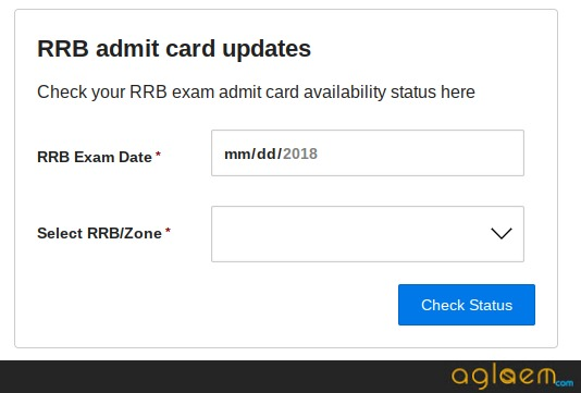 RRB Group D Admit Card Status 2018 - Check Your Admit Card Date and Link Here