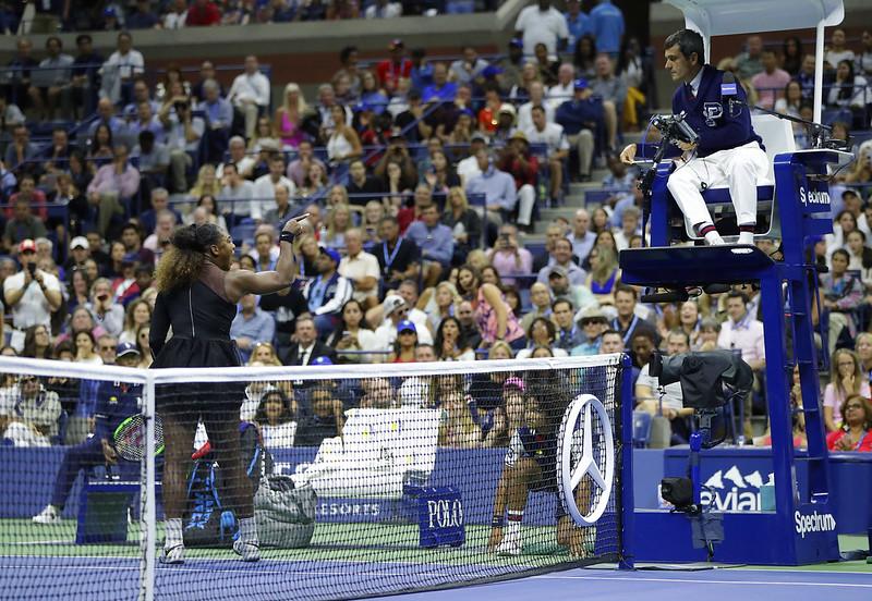 Serena Williams(左)與Carlos Ramos(右)。(達志影像資料照)