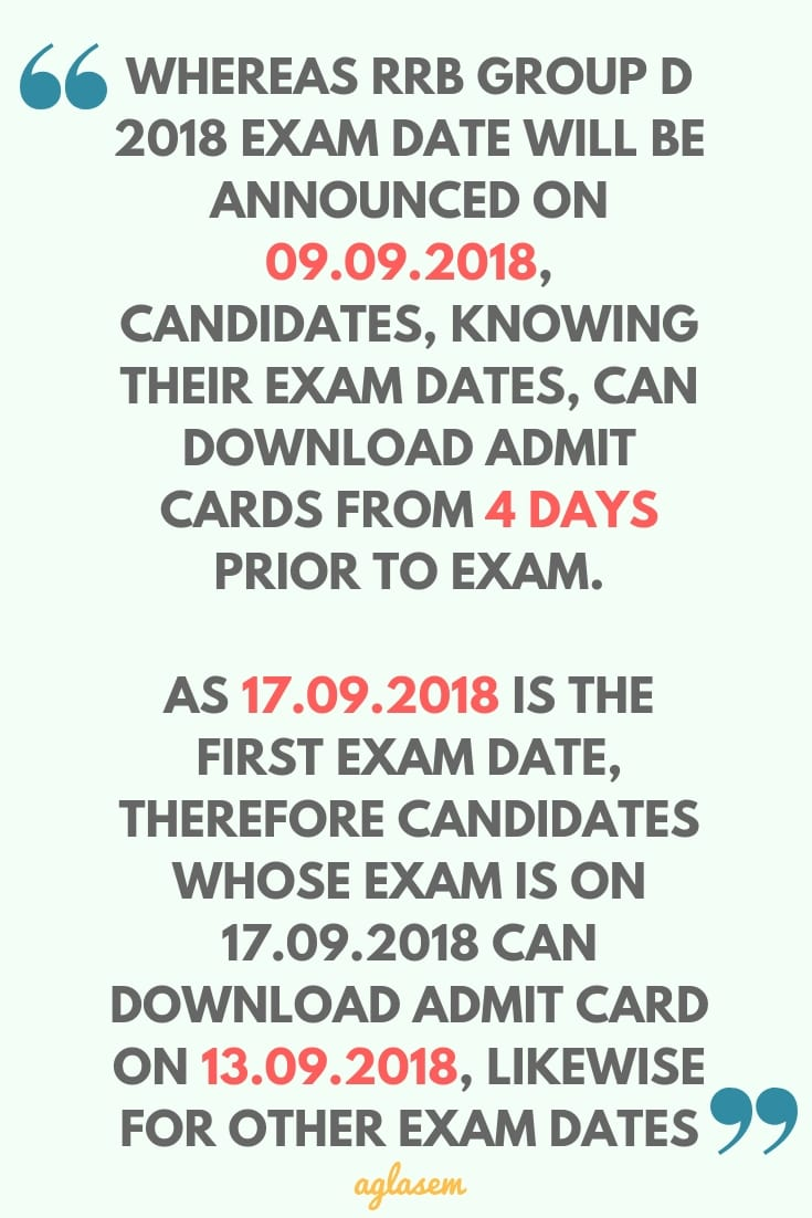 RRB Group D Admit Card Download Starts 13 September; Check Exam Date, Centre City From 9 September