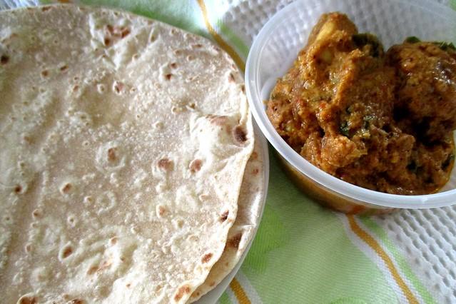 Sri Pelita chapati and chicken rendang