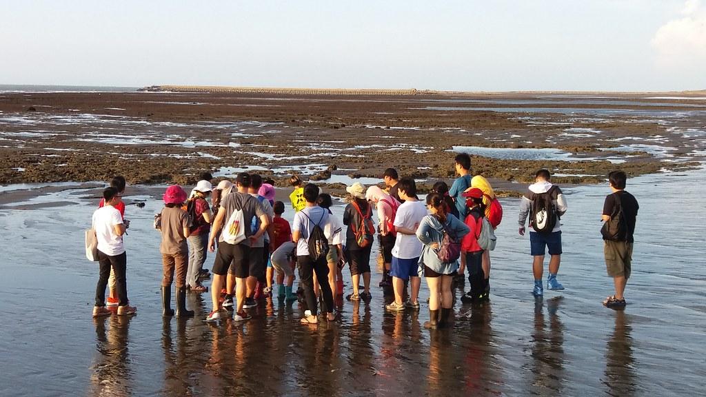 特生中心人員帶領民眾進行藻礁環境的生態解說,這幾天工作亦有碰到中央研究院老師帶領學生、助理到藻礁進行生態研究