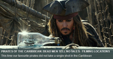 Where was Pirates Caribbean filmed