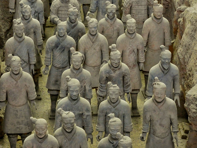 Guerreros de terracota. Uno de los imprescindibles que ver en Xi'an (China)