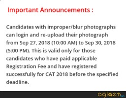 CAT 2018 photograph