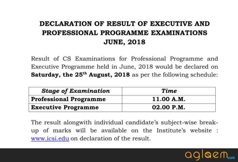 ICSI CS Executive Result June 2018