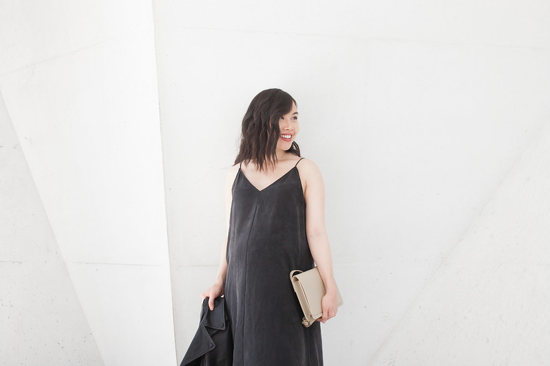 storq silk slip dress