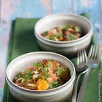 Salat mit knusprigen Schweineohren – Salada de orelhe de porco