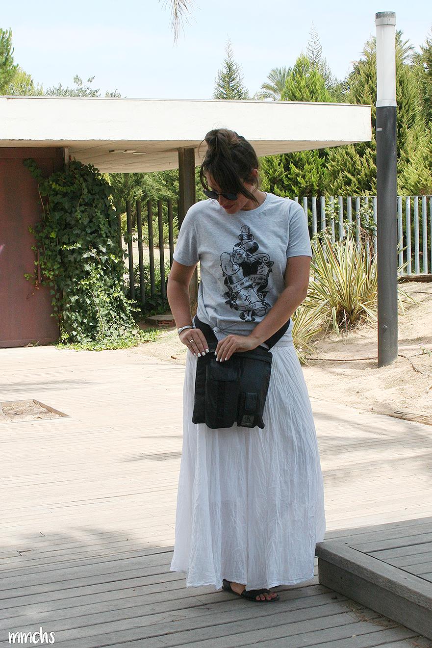 look falda blanca Ibicenca