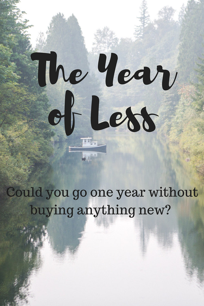 Could you go one year without buying anything new other than consumables? Could you purge 50% of your household items?