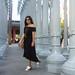black off the shoulder dress, round rattan bag, urban light-10.jpg