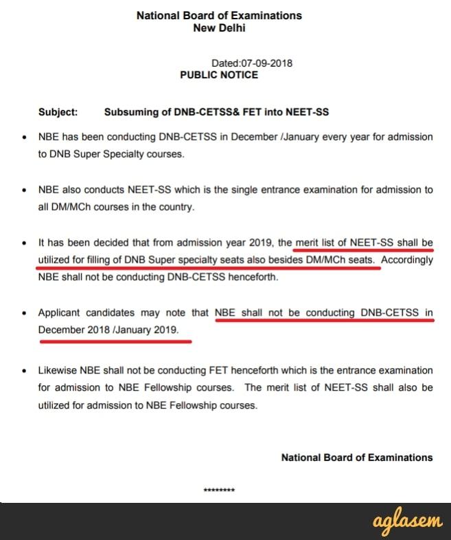 NEET SS 2019   Exam Date, Application Form, Eligibility, Syllabus