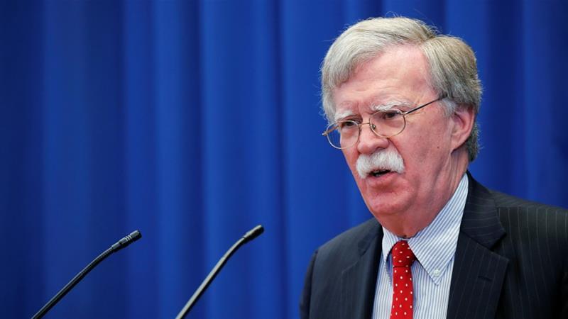 美国国安顾问波顿以制裁威胁国际刑事法院,不得对美国展开调查。(图片来源:Denis Balibouse/Reuters)