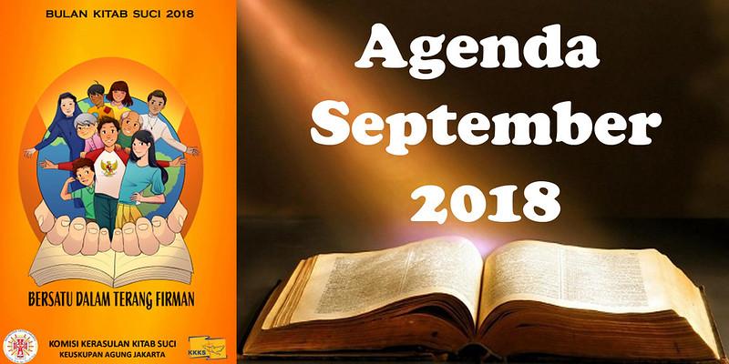 AGENDA SEPTEMBER 2018