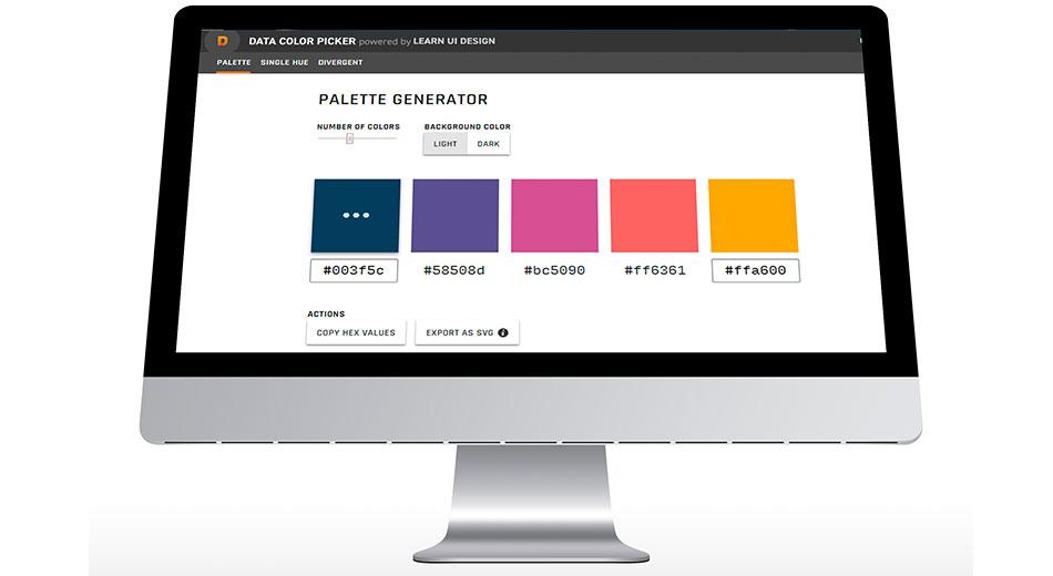 """Conoce """"Data Color Picker"""", generador automático de paletas cromáticas equidistantes"""