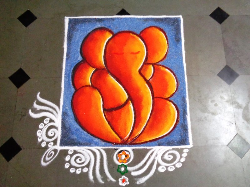 easy ganpati rangoli designs