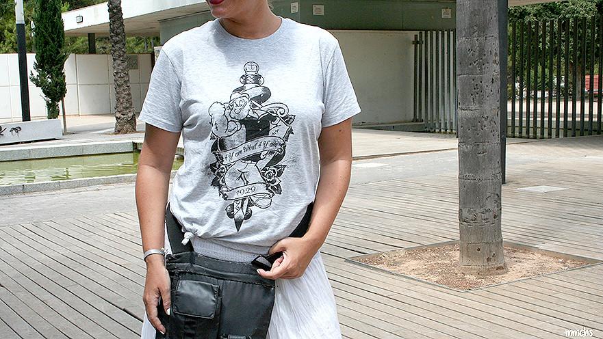 camiseta de hombre de Popeye para mujer