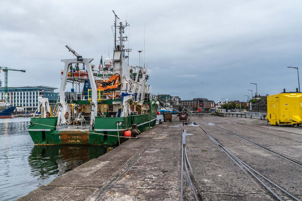 THE CELTIC VOYAGER - HORGAN'S QUAY IN CORK CITY [A RESEARCH AND SURVEY VESSEL] 008