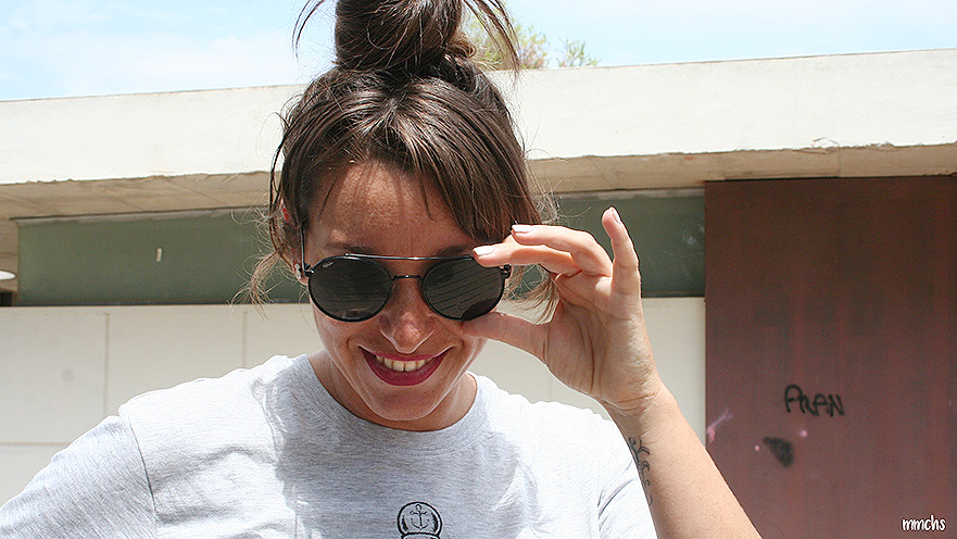 gafas de sol negras de mujer