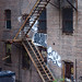 Fire escape, from the High Line