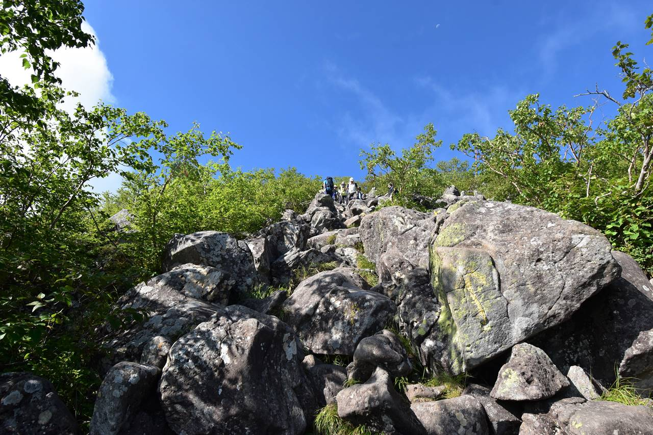 蓼科山山頂までの急登