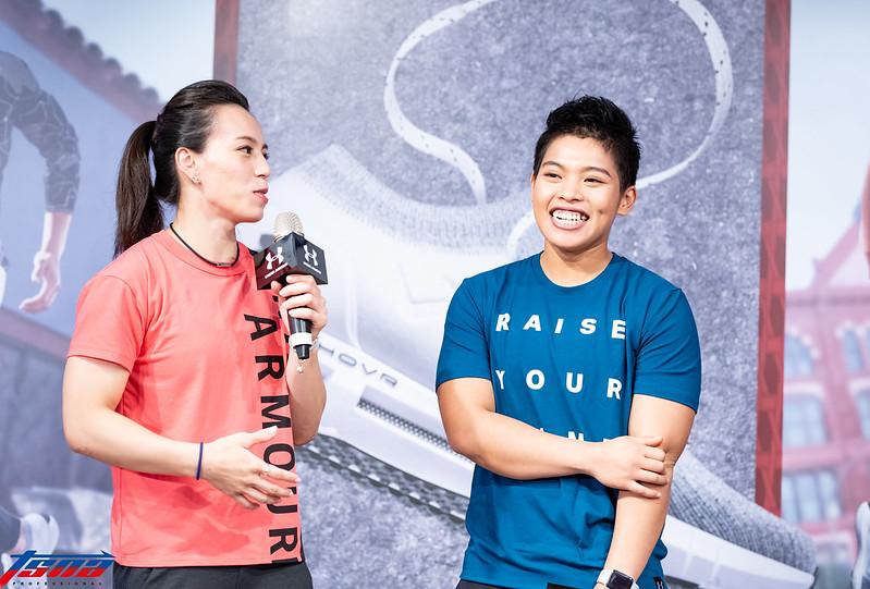 郭婞淳(左)、洪萬庭(右)。(特約攝影侯禕縉/攝)