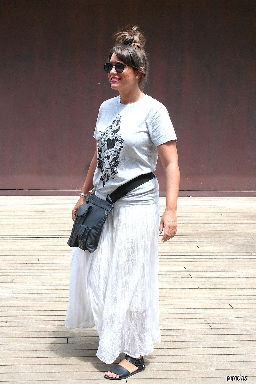 look falda blanca estilo Ibicenca