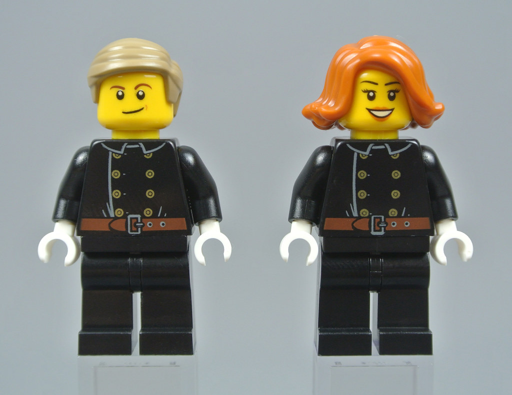 LEGO Pair of Black 1x2 Brick with Horse Horses Facing Each Other