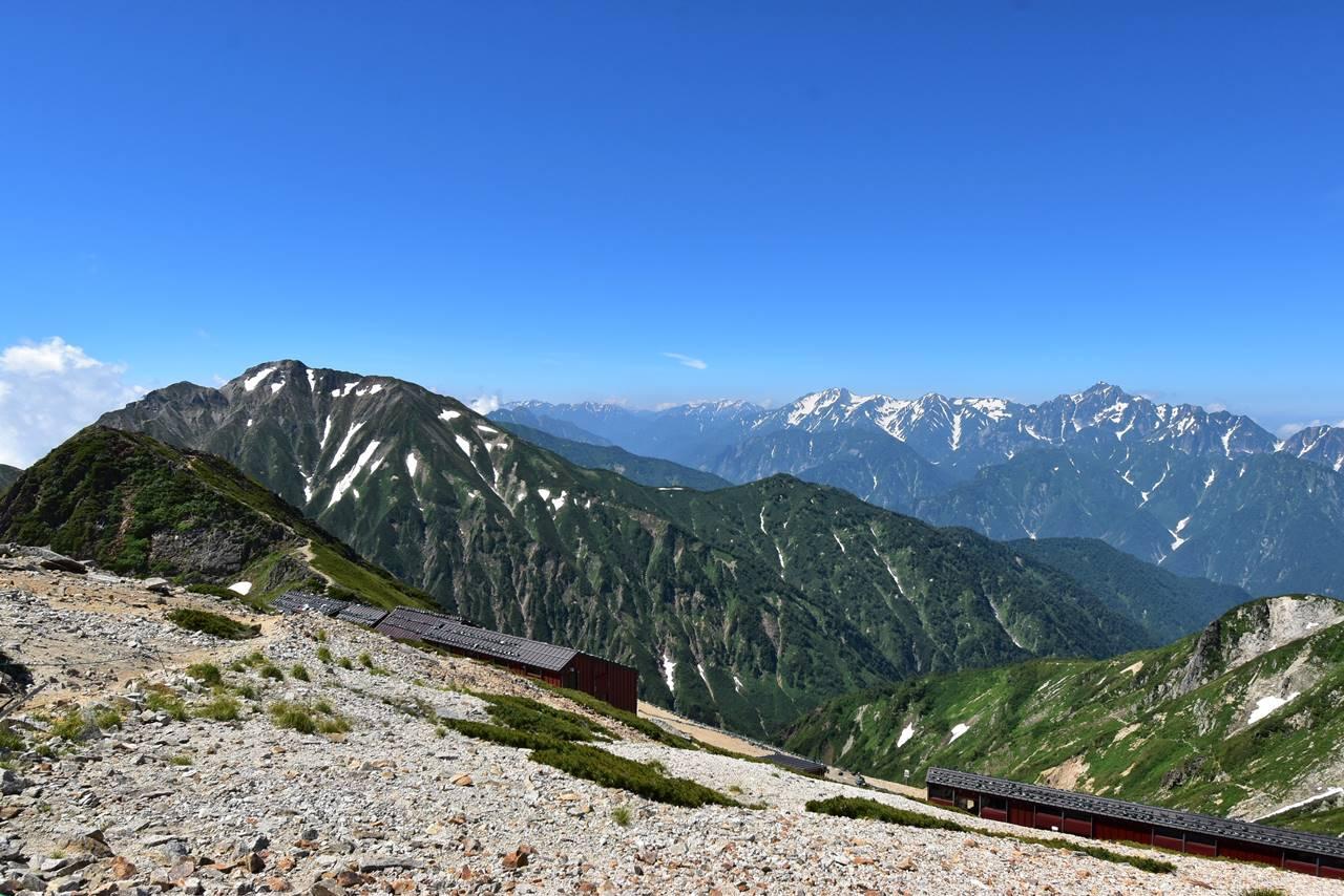 五竜岳と立山連峰~剱岳