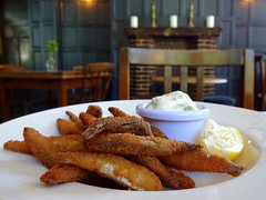 Whitebait at the Herne Tavern, East Dulwich, London SE22